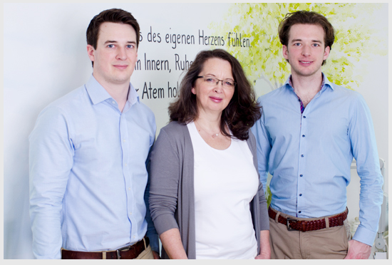 Das Team von Via Natura - Marcel, Kornelia und Jan Schirrey